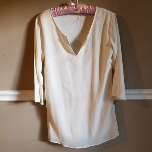 Tobi Ivory Lined Tunic Top